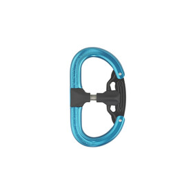AustriAlpin Fifty-Fifty Autolock Carabiner anodized blue
